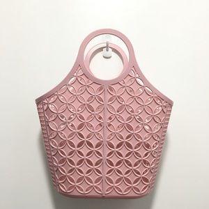 Fashion bag pink plastic handbag